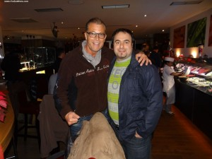 Fody Pashalidis mit Olympia-Teilnehmer Superschwergewichtsheber Almir Velagic
